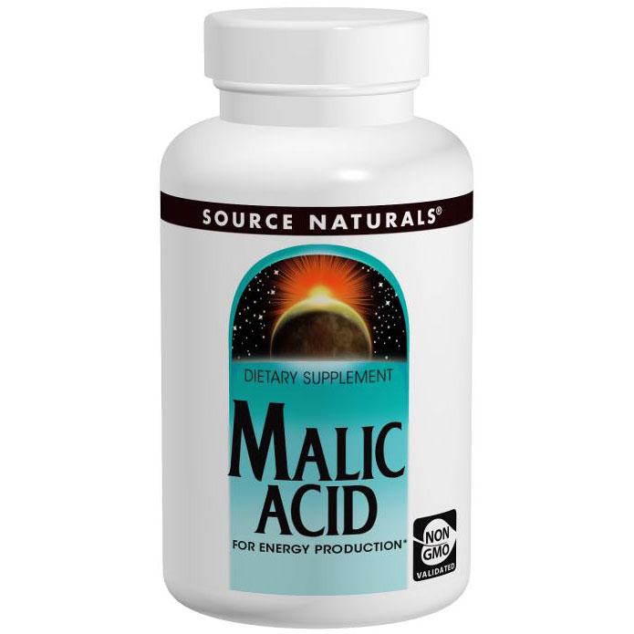 Malic Acid 833 mg, 120 Tablets, Source Naturals
