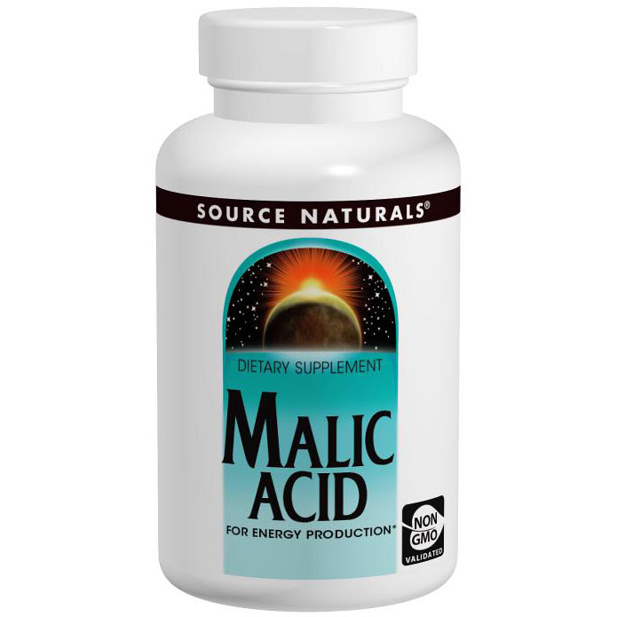 Malic Acid 833 mg, Value Size, 240 Tablets, Source Naturals