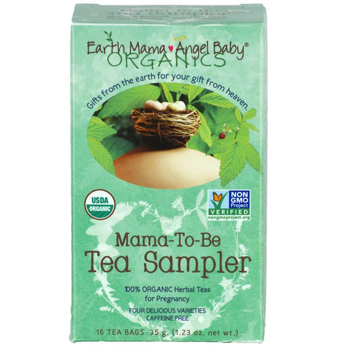 Mama-To-Be Tea Sampler, 16 Tea Bags, Earth Mama Angel Baby