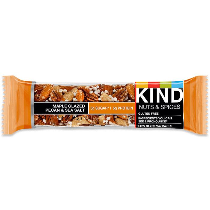 Maple Glazed Pecan & Sea Salt Bar, 1.4 oz x 12 Bars, KIND Bars