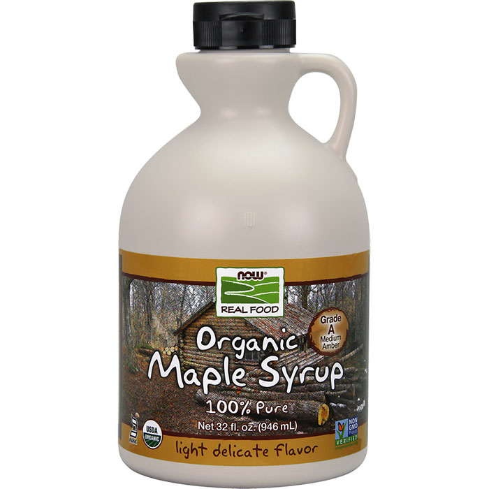 Organic Maple Syrup, Grade A Amber Color, 32 oz, NOW Foods