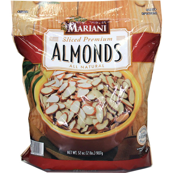 Mariani Sliced Premium Almonds, Great for Baking, 2 lb