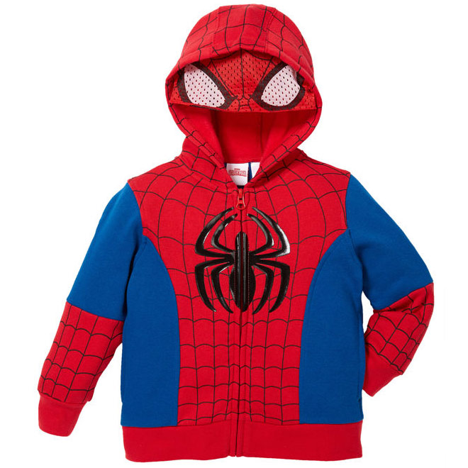 Marvel Character Boys' Full Zip Hoodie, Spiderman