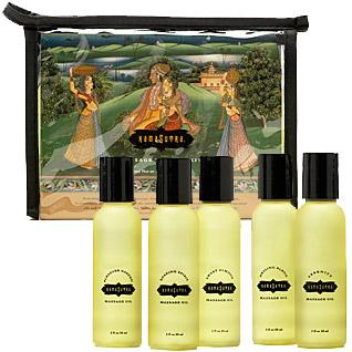 Kama Sutra Massage Therapy Kit, Travel Sized Massage Oil Set