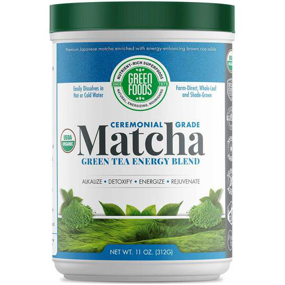 Matcha Green Tea, Drink Mix, Organic, 11 oz (60 servings), Green Foods Corporation