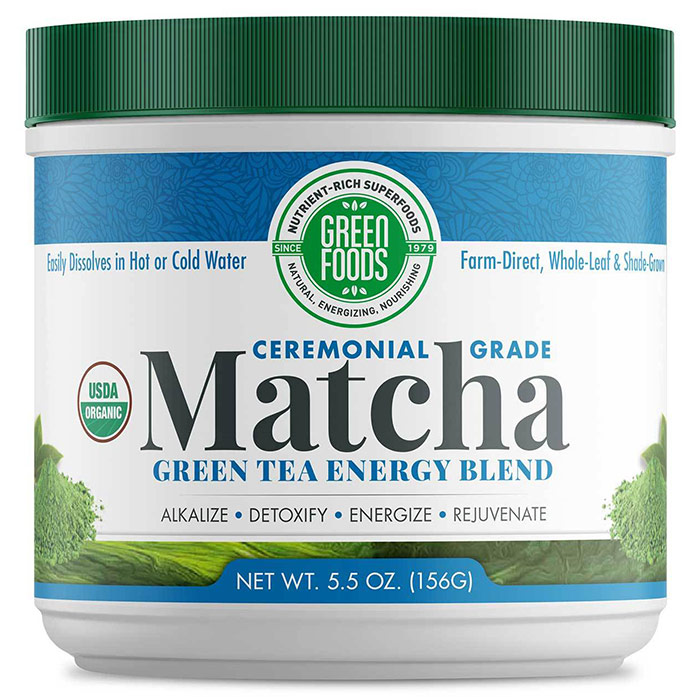 Matcha Green Tea, Drink Mix, Organic, 5.5 oz (156 g), Green Foods Corporation
