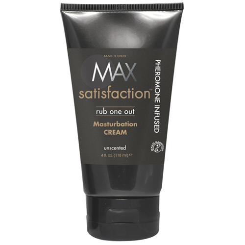 Max 4 Men Max Satisfaction Rub One Out Masturbation Cream, Unscented, 4 oz, Classic Erotica