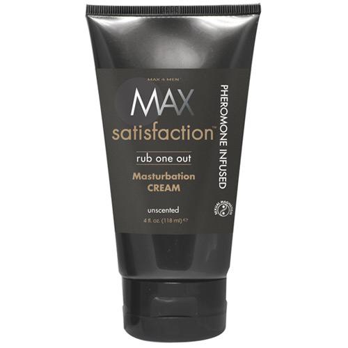 Max 4 Men Max Satisfaction Rub One Out Masturbation Cream, Unscented, 4 oz, Classic Erotica