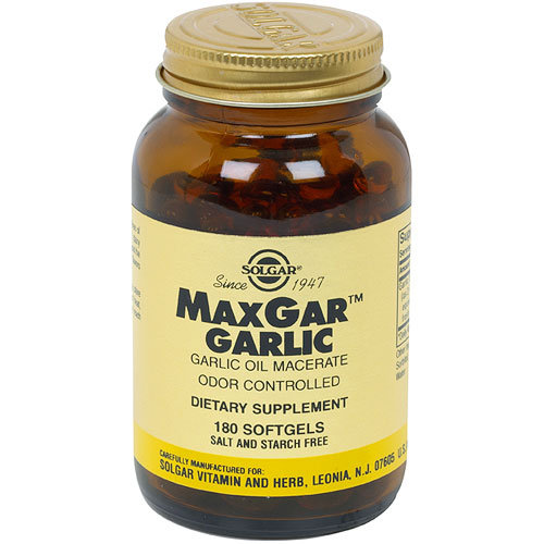 Max Gar Garlic, 180 Softgels, Solgar