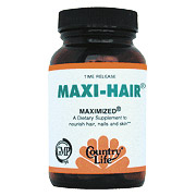 Maxi Hair Maximized, Time Release, 90 Tablets, Country Life