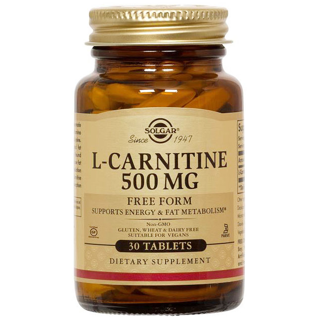 Maxi L-Carnitine 500 mg, 30 Tablets, Solgar