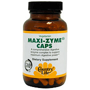 Maxi-Zyme Extra Strength 60 Vegicaps, Country Life