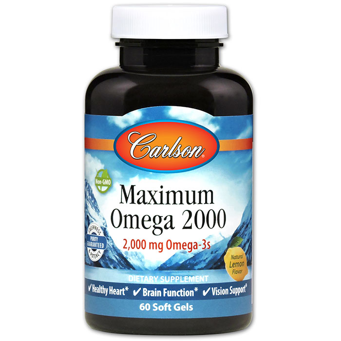 Maximum Omega 2000, 60 Soft Gels, Carlson Labs
