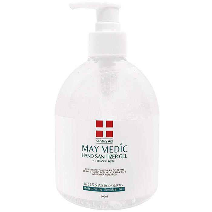 May Medic Hand Sanitizer Gel, Ethanol 68%, 17 oz (500 ml)