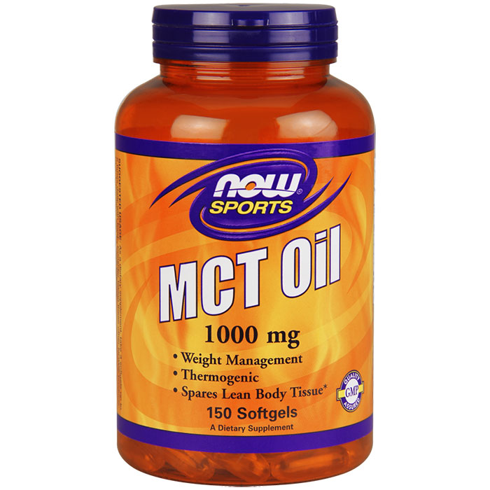 MCT Oil 1000 mg, 150 Softgels, NOW Foods