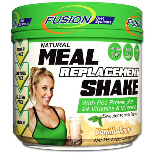 Meal Replacement Shake, Vanilla Bean, 12 oz, Fusion Diet Systems