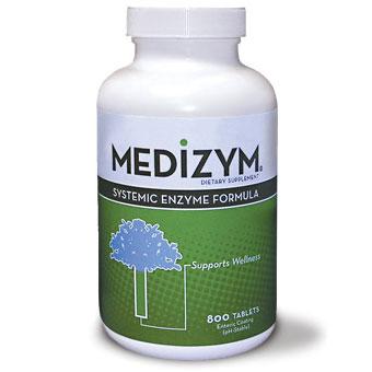Medizym Systemic Enzyme Formula, 200 Tablets, Naturally Vitamins