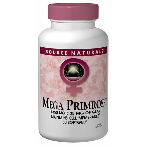 Mega Primrose 1350mg Eternal Woman (Evening Primrose Oil) 60 softgels from Source Naturals