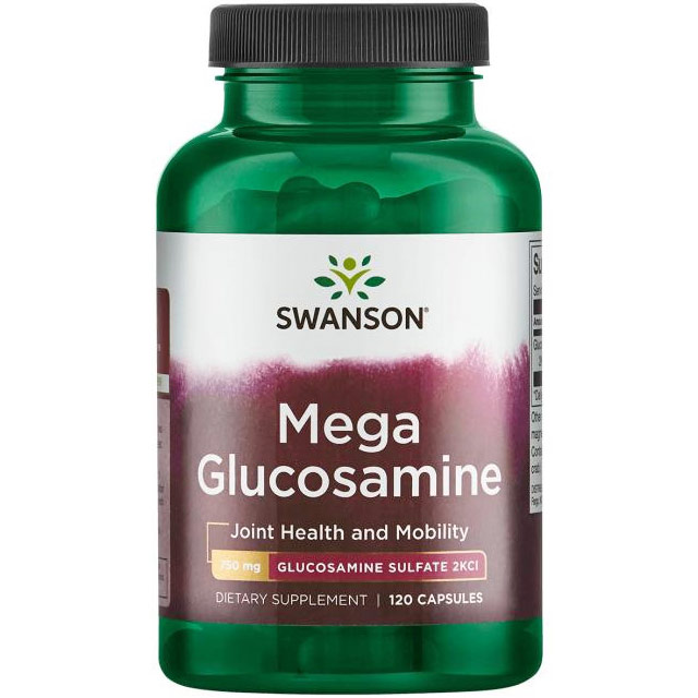 Mega Glucosamine, Joint Health & Mobility, 120 Capsules, Swanson Health Products