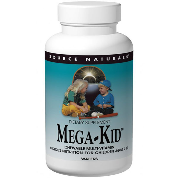 Mega Kid Multiple Chewable Multivitamin 60 wafers from Source Naturals