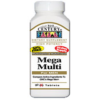 Mega Multi For Men, Multi-Vitamins & Minerals, 90 Tablets, 21st Century Health Care