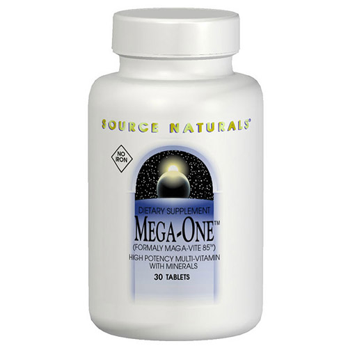 Mega-One Multiple No Iron 30 tabs from Source Naturals