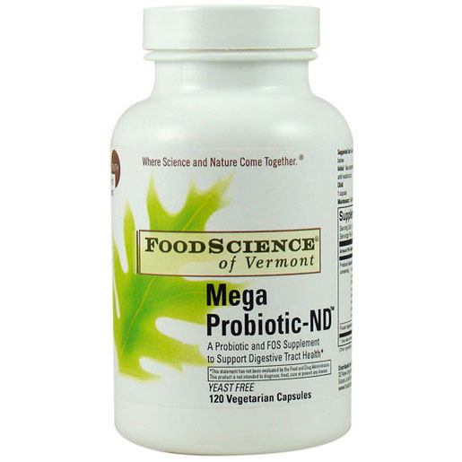 Mega Probiotic-ND (non-dairy) 120 vegicaps, FoodScience Of Vermont