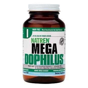 Megadophilus (Mega Dophilus), Dairy Free Powder, 1.75 oz, Natren