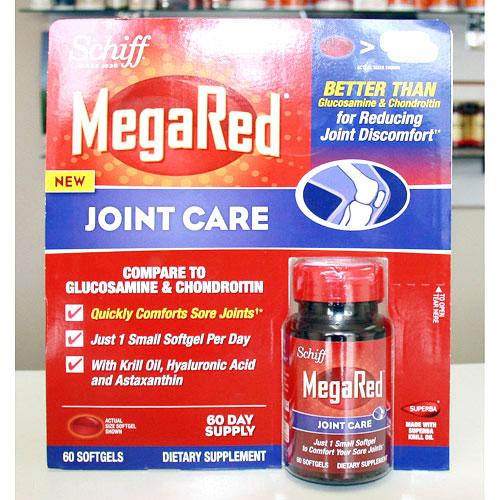 MegaRed Joint Care (Krill Oil, Hyaluronic Acid & Astaxanthin), 60 Softgels, Schiff