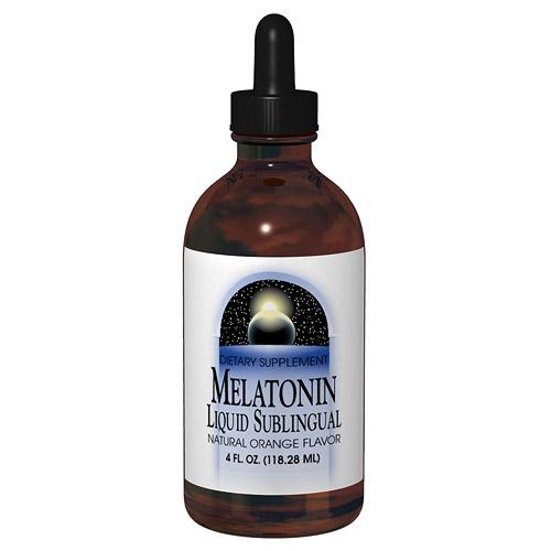 Melatonin Liquid Orange Sublingual 2 fl oz from Source Naturals