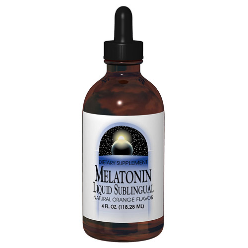 Melatonin Liquid Orange Sublingual 4 fl oz from Source Naturals