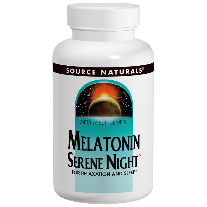 Melatonin Serene Night 3 mg, 60 Tablets, Source Naturals