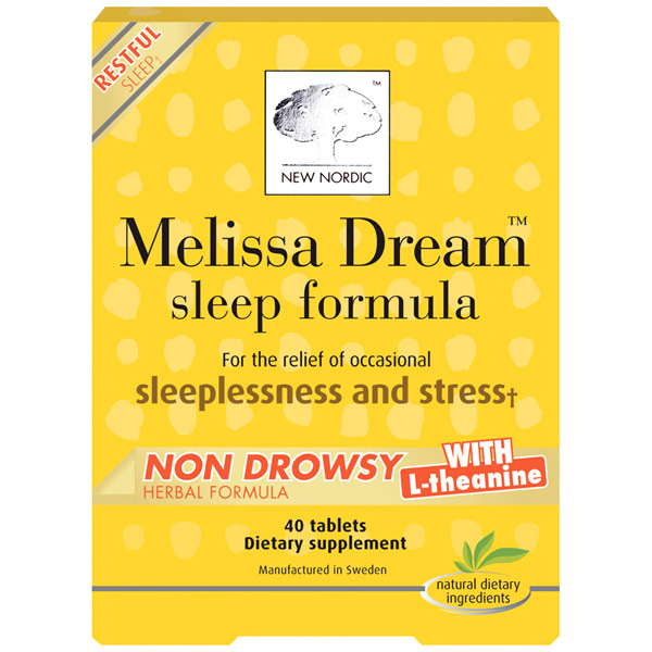 Melissa Dream, Sleep Formula, 40 Tablets, New Nordic