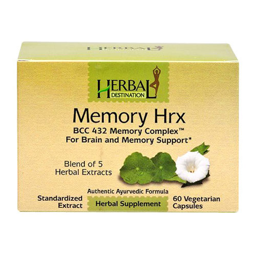Memory Hrx, Brain & Memory Support, 60 Vegetarian Capsules, Herbal Destination