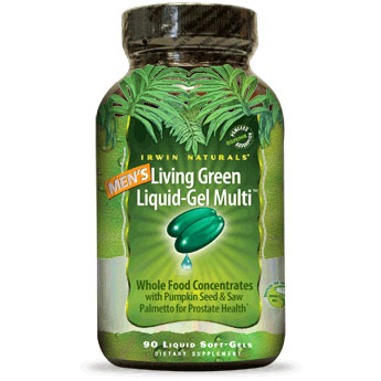 Men's Living Green Liquid-Gel Multi, 120 Liquid Soft-Gels, Irwin Naturals