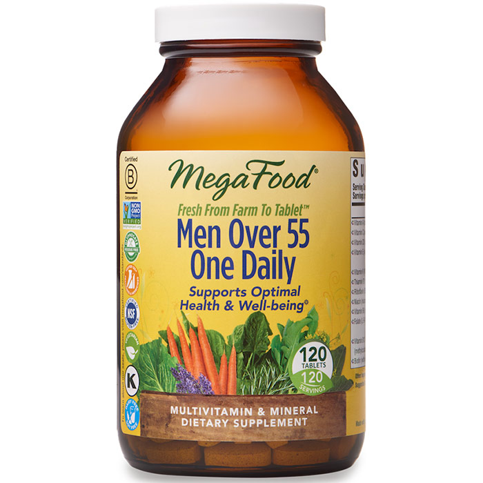 Men Over 55 One Daily, Multivitamin & Mineral, 120 Tablets, MegaFood