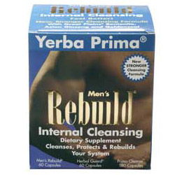 Mens Rebuild Internal Cleansing System 3 pc from Yerba Prima