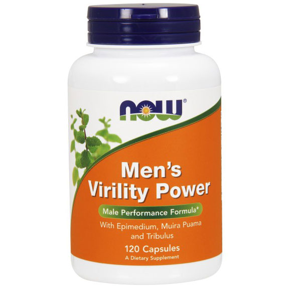 Mens Virility Power, Value Size, 120 Capsules, NOW Foods