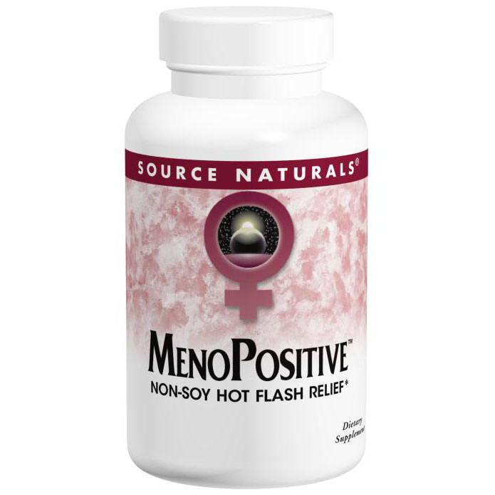 MenoPositive, Non-Soy Hot Flash Relief, 60 Tablets, Source Naturals