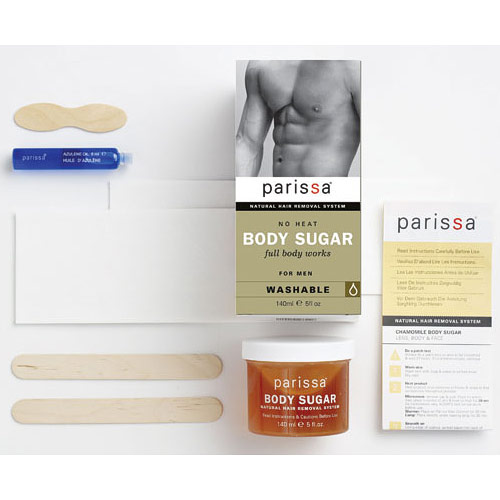 Men's No Heat Body Sugar Hair Removal, 1 Kit, Parissa Natural Hair Removal System