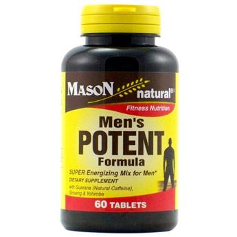 Mens Potent Formula, 60 Tablets, Mason Natural