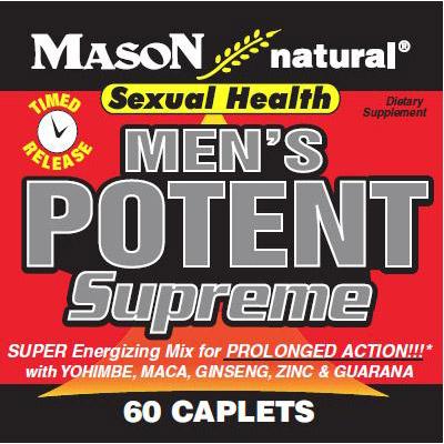 Mens Potent Supreme, 60 Caplets, Mason Natural