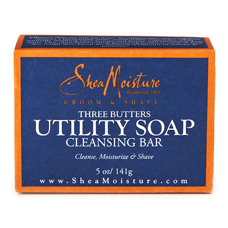 SheaMoisture Three Butters Mens Utility Soap, 5 oz, Shea Moisture Mens Skin Care