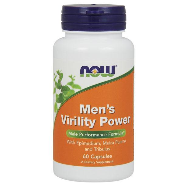 Mens Virility Power, Male Performance Formula, 60 Capsules, NOW Foods