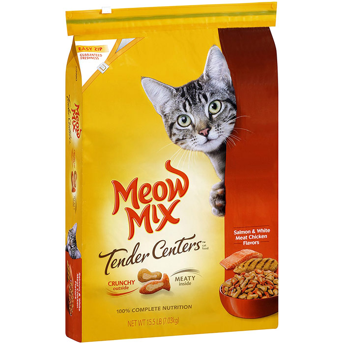Meow Mix Tender Centers Dry Cat Food, Salmon & Chicken, 15.5 lb (7.03 kg)