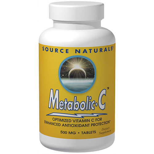 Metabolic C 500 mg Tabs, 180 Tablets, Source Naturals