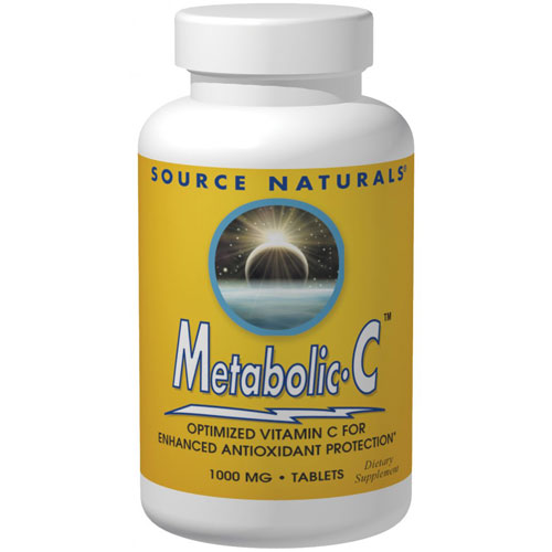 Metabolic C 500 mg Caps, 180 Capsules, Source Naturals