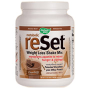 Metabolic ReSet Weight Loss Shake Mix - Chocolate, 1.4 lb, Nature's Way