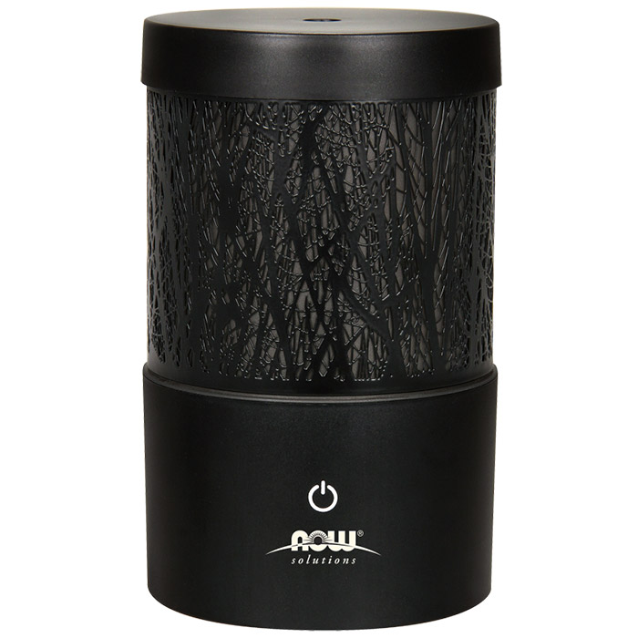 Aromatherapy Diffuser - Metal Touch Ultrasonic Essential Oil Diffuser, NOW Foods