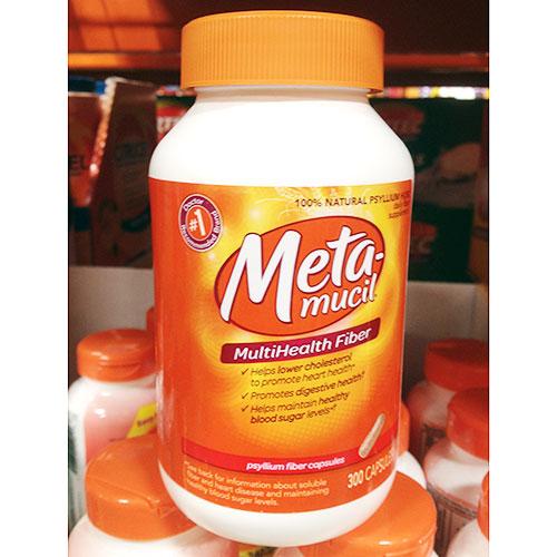 Metamucil MultiHealth Fiber, 100% Natural Psyllium Fiber, 300 Capsules